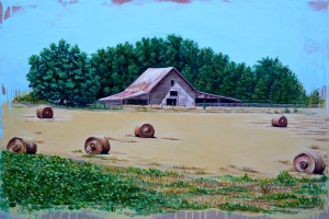 """Commissioned Barn Painting, Oil & Acrylic,24""""x 36"""""""