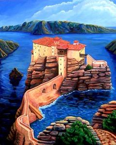 The Island, Acrylic, 5'x 4'