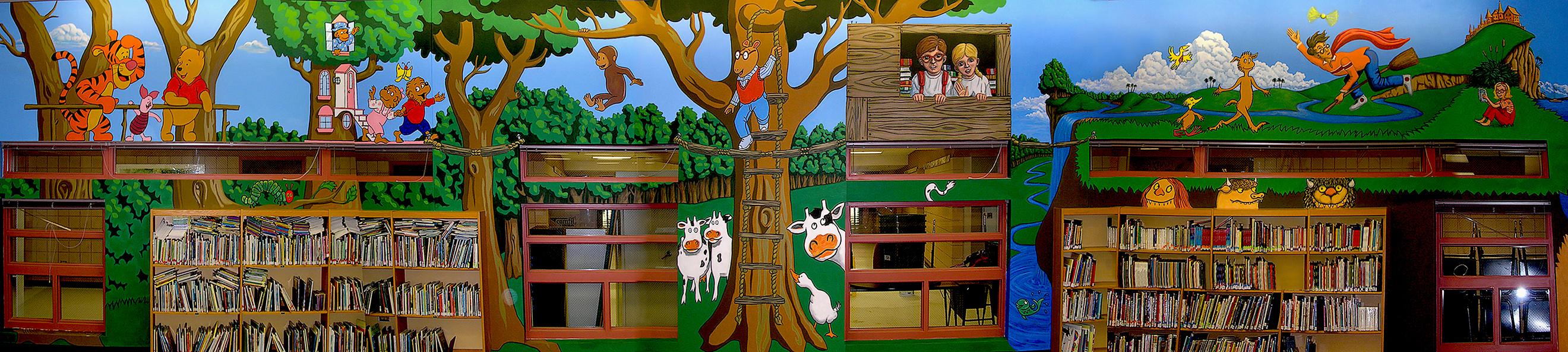 Murals the art of jason stillman for Elementary school mural
