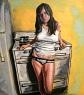 """""""West Hollywood Girl""""_Acrylic_21""""x24"""""""