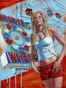"""Coney Island Girl, Oil & Acrylic on Canvas, 15""""x 20"""""""