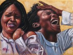 """""""The Inside Joke"""" Oil on Canvas, 12"""" x16"""""""