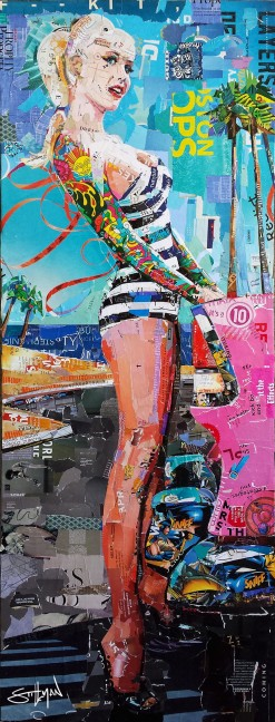 """Beach Blonde"", 16x42"", Available"